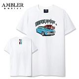 [엠블러]AMBLER 신상 자수 반팔 티셔츠 AS430-화이트