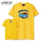 [엠블러]AMBLER 신상 자수 반팔 티셔츠 AS430-옐로우