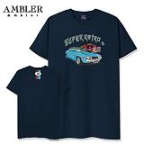 [엠블러]AMBLER 신상 자수 반팔 티셔츠 AS430-네이비