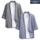 [해리슨] 사슬 7부셔츠  DE1026