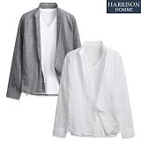 [해리슨] 거즈줄지 7부셔츠 DE1030
