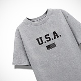 [엑스엑스아이엑스]XXIX - USA - 루즈핏 반팔 - 그레이