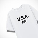 [엑스엑스아이엑스]XXIX - USA - 루즈핏 반팔 - 화이트