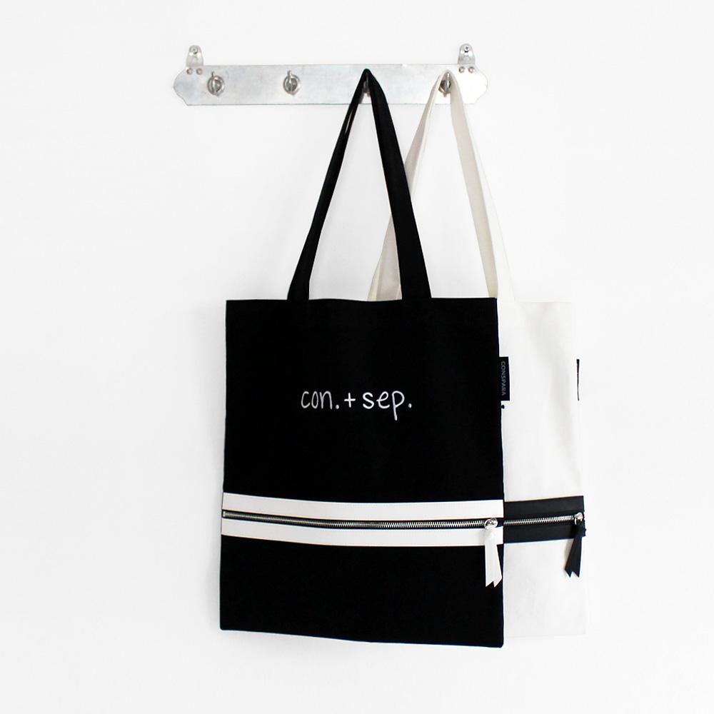 [컨스파라]CONSPARA LEATHER POINT POCKET SHOULDER BAG 레더 포인트 포켓숄더백