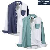 [해리슨] 긴팔 기본 배색 셔츠 MSS1379