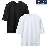 [해리슨] 무지 트임 5부 티셔츠 SPG1198