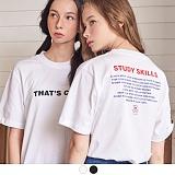 [무아무아]MUAHMUAH - STUDY HARD T-SHIRTS 스터디하드 티셔츠 반팔티 [7월25일예약배송]