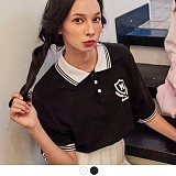[무아무아]MUAHMUAH - SCHOOL MUAH COLLAR T-SHIRTS 스쿨 무아 카라 티셔츠 PK티 카라티