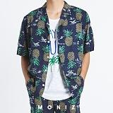 [모니즈] 하와이안 파인애플 반팔 셔츠 (2color) SHT627