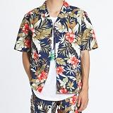 [모니즈] 하와이안 플라워 반팔 셔츠 (2color) SHT626