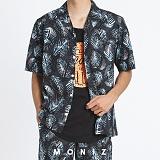 [모니즈] 하와이안 리프 반팔 셔츠 (2color) SHT624