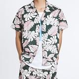 [모니즈] 하와이안 리프 플라워 반팔 셔츠 (2color) SHT623