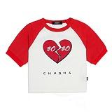[참스]CHARMS HATE HEART T 반팔티