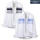 [해리슨] 긴팔 배색 단가라 셔츠 MSS1381