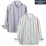 [해리슨] 긴팔 줄지 오픈카라 셔츠 MSS1385