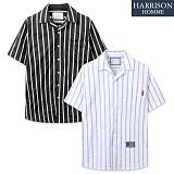 [해리슨] NJ 세 줄 ST 오픈 반팔 셔츠 MET1479