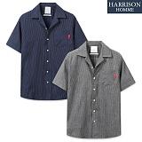 [해리슨] NJ 인디고 오픈 반팔 셔츠 MET1480