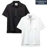 [해리슨] NJ 지퍼 반 오픈 반팔 셔츠 MET1483