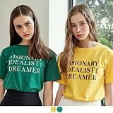 [무아무아]MUAHMUAH - DREAMER PRINTING T-SHIRTS 드리머프린팅 티셔츠 반팔티 [7월28일예약배송]