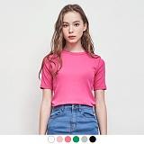 [무아무아]MUAHMUAH - SLIM FLICE T-SHIRTS 슬림후라이스 티셔츠 무지 반팔티