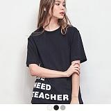 [무아무아]MUAHMUAH - WE NEED TEACHER T-SHIRTS 위니드티쳐 티셔츠 반팔티