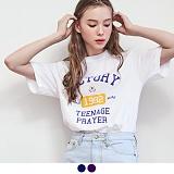 [무아무아]MUAHMUAH - VICTORY PRINTING T-SHIRTS 빅토리 프린팅 티셔츠 반팔티