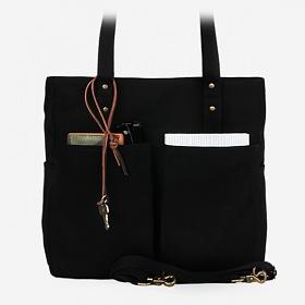 [모노노] MONONO - Super Oxford 6 Pocket 3 Way Bag - All Black 캔버스 숄더백 토트백