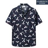 [해리슨] 반팔 하와이안 두루미 셔츠 MSS1389