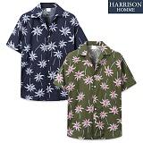 [해리슨] 반팔 하와이안 야자수 셔츠 MSS1388