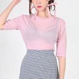 [피티지]FITTAGE-심플 5부 반팔 티셔츠 (아이보리.핑크.베이지.블랙)