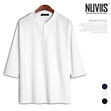 뉴비스 - 무지 헨리넥 7부 티셔츠 (CS065TS)