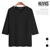 뉴비스 - 무지 브이넥 7부 티셔츠 (CS064TS)
