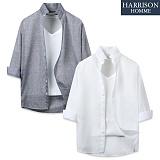 [해리슨] 숏애리 7부셔츠 DE1020