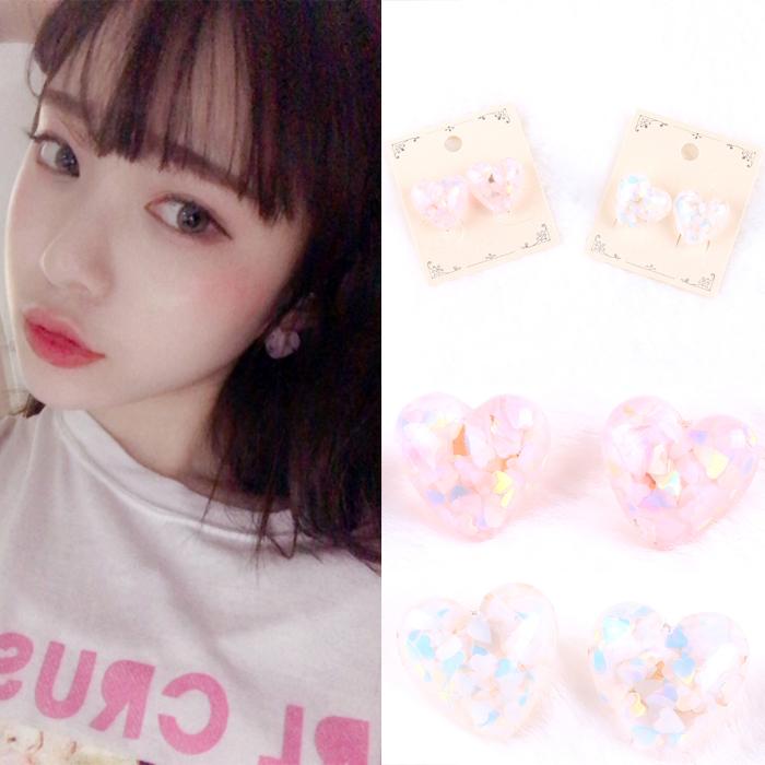 키키바바 - 패션 하트 글리터 귀걸이