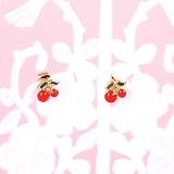 키키바바 - 체리 과일 미니 귀걸이