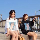 [피티지]FITTAGE-빈티지 프린팅 박시 티셔츠 (아이보리.블랙) 오버핏 반팔티