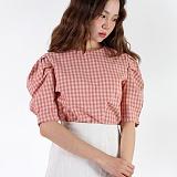 [피티지]FITTAGE-와플 퍼프 블라우스 (핑크.소라.카키) 셔츠