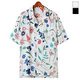 토키오 플라워 오픈 카라 반팔 셔츠