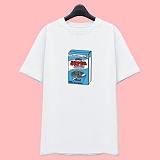 [슈퍼레이티브] superlative [7J6501] CEREAL 전사 반팔 티셔츠 - 반팔 티셔츠 - 화이트