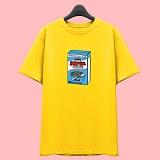 [슈퍼레이티브] superlative [7J6501] CEREAL 전사 반팔 티셔츠 - 반팔 티셔츠 - 옐로우
