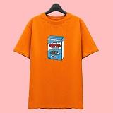 [슈퍼레이티브] superlative [7J6501] CEREAL 전사 반팔 티셔츠 - 반팔 티셔츠 - 오렌지