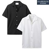 [해리슨] 폴리 오픈 카라 반팔 셔츠 MET1500