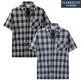 [해리슨] 루이 체크 반팔 셔츠 MET1498