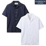 [해리슨] 1602 오픈 카라 반팔 셔츠 MET1497