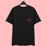 [슈퍼레이티브] superlative [7SMH27] CROSS 반팔 티셔츠 - 반팔 티셔츠 - 블랙