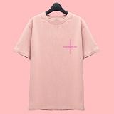 [슈퍼레이티브] superlative [7SMH27] CROSS 반팔 티셔츠 - 반팔 티셔츠 - 핑크
