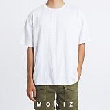 [모니즈] 멜로디 무지 반팔 티셔츠 (3color) TSB124