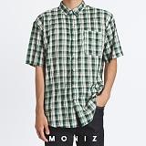 [모니즈] 링클 체크 반팔 셔츠 (2color) SHT633