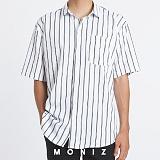 [모니즈] 쓰리 스트라이프 반팔 셔츠 (2color) SHT632