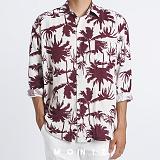 [모니즈] 하와이안 야자수 셔츠 (2color) SHT631